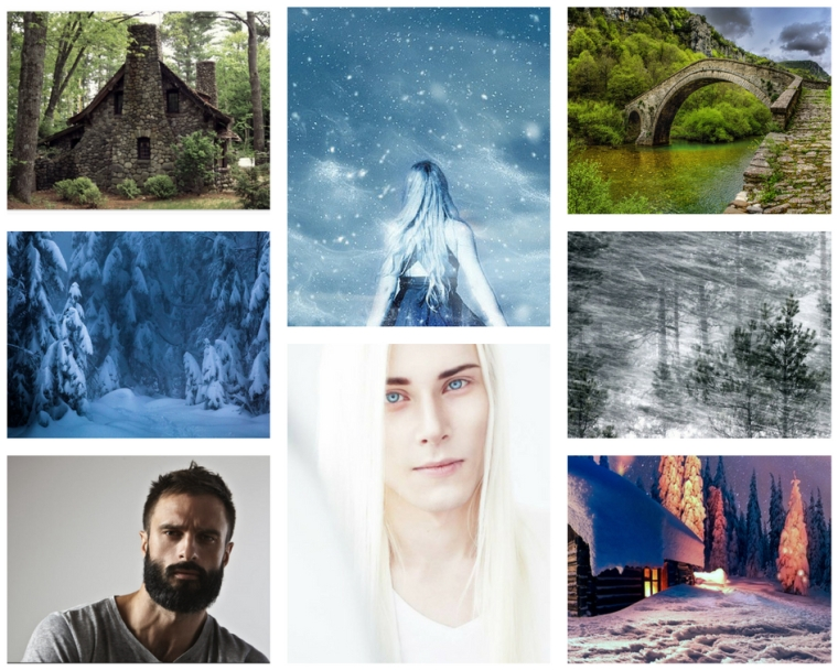 Snowed in moodboard 2