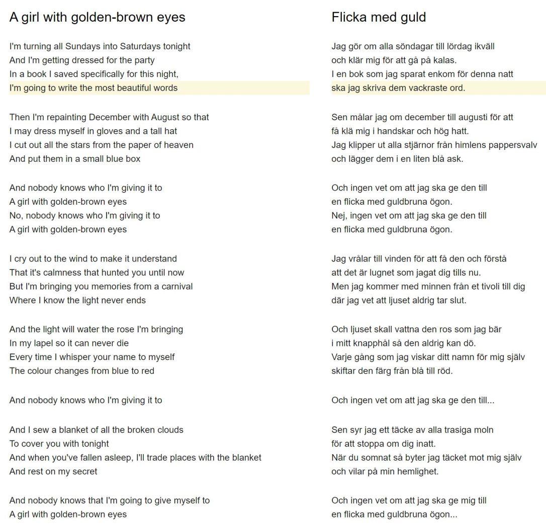 flicka med guld