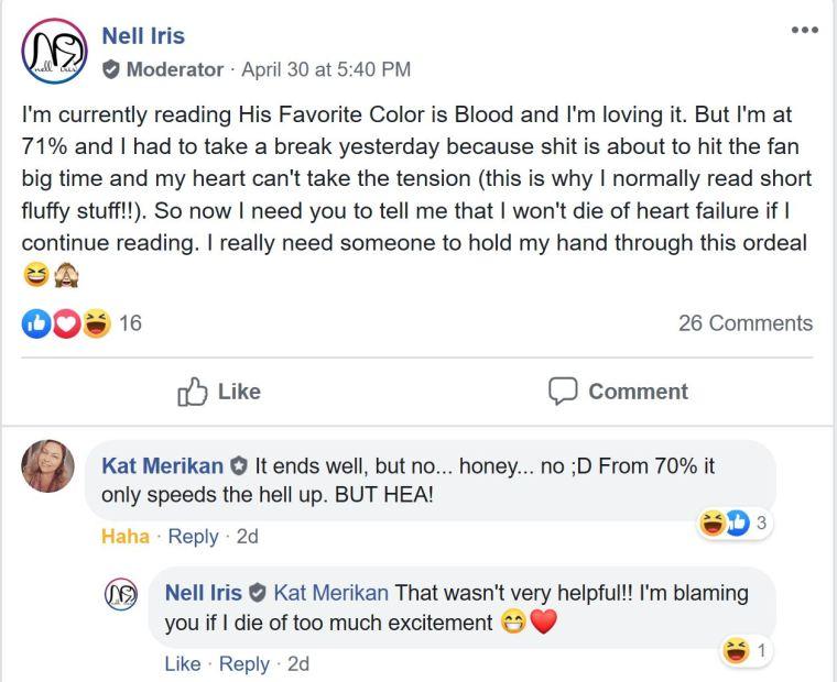 favorite color blood